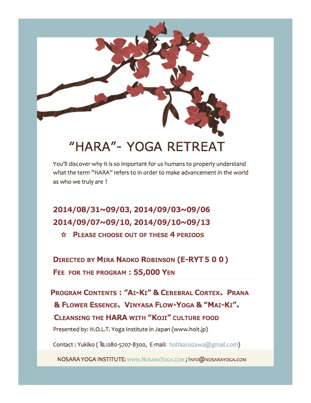 """HARA""- YOGA RETREAT IN NOSARA"